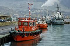 tugboat in seaport (vasiliy.ivanoff) Tags: sea ship russia blacksea seaport россия novorossiysk черноеморе порт новороссийск