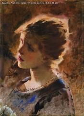 Eugenio Prati Innocenza 1894 olio su tela 46,5 x 34 cm
