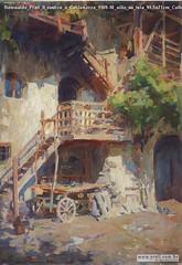 Romualdo Prati Il rustico a Caldonazzo 1909-10 oilio su tela 99,5x71cm Collezione privata
