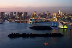 Rainbow Bridge Tokyo (どこでもいっしょ) Tags: japan tokyo cityscape 日本 tokyotower 東京 odaiba nightview tokyobay rainbowbridge 台場 m43 東京灣 mirrorless 港區 microfourthirds olympusm14150mmf4056 olympusomdem5