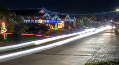 Street Christmas Lights (smjbk) Tags: longexposure houses lights streetlights headlights christmaslights lighttrails pakenham christmas2013