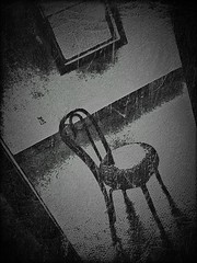 Chair (sleepyvt) Tags: blackandwhite scary chair eerie creepy iphonepictures iphonepics iphoneography