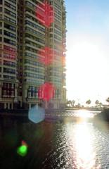 Por all (Francisca A.) Tags: summer sun water sunshine lights valparaiso luces agua via lagoon verano laguna reflexion reflejos viadelmar luzsolar bookeh lenslight