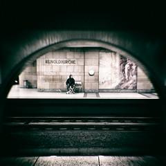 subterranean. (angsthase.) Tags: people dog 6x6 station germany subway square deutschland phone ubahn rails nrw ruhrgebiet dortmund gleise ruhrpott reinoldikirche 2013 nexus5