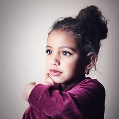 (SnAfeeR) Tags: portrait baby cute love canon studio kid child sweet flash snap curly raghad 550d  canon550d samaher snafeer