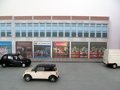 Modern High Street shops (kingsway john) Tags: street cats scale shop toy iceland high model traffic models railway mums card kits stores oo protection gauge league diorama kingsway 176 superquick timpson