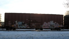 IMG_9995 (Youra Dick) Tags: winter minnesota train graffiti adm minneapolis sp boxcar freight mwcx