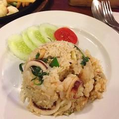 ข้าวผัดโป๊ะแตก | Fried Rice With Mix Seafood @ t-Ten Café | ที-เทน คาเฟ่