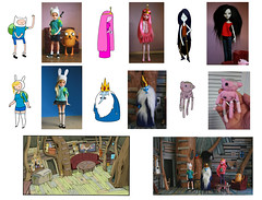 Adventure Time customs collage (Kittytoes) Tags: