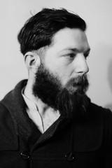 January 16th 2014 (The Bearded) Tags: portrait blackandwhite bw selfportrait self project beard coat facialhair 365 bearded dapper selfie