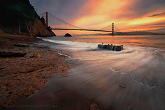 Day Dreamer (Andrew Louie Photography) Tags: world sf life california camera new bridge winter friends west beach colors canon photography golden bay interesting gate san francisco long exposure waves treasure expression vibrant magic chest north dream passion express coffeeandjazz
