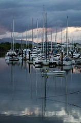 Morning in Bluewater (Matthew Kenwrick) Tags: morning water reflections boats fishing cloudy australia cairns vision:text=0559 vision:sky=0707 vision:outdoor=0944