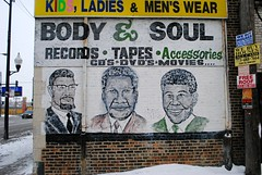 Body & Soul (Cragin Spring) Tags: chicago records illinois mural midwest chitown il southside tapes dvds roseland chicagoillinois chicagoil windycity
