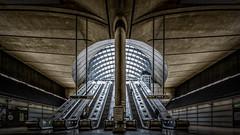 Canary Wharf Underground Station (LeePellingPhotography.co.uk) Tags: street canada london architecture underground square steel escalator tube architectural wharf canary canarywharf concreate