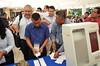 Votación con la urna electrónica en Chilpancingo Guerrero