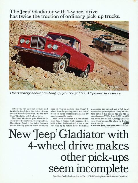 jeep ad pickup gladiator 1965