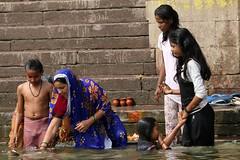 Varanasi, The River Ganges,  March2014  (81) (colingoldfish) Tags: varanasi bathing theganges varanasiindia bathingintheganges womenbathing colingoldfish bathinginindia varanasitheganges