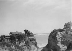 The Island at Towan Sands Newquay Cornwall 1949 (Bury Gardener) Tags: uk england bw vintage coast cornwall newquay coastal 1940s oldies 1949