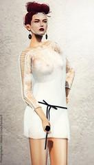 MOLiCHiNO Maggy Dress (Aurelia Chauveau) Tags: summer sexy fashion fun spring dress mesh lace top may style skirt secondlife ribbon lacey couture laces longsleeve racy meshdress slfashion lindareddevil sophisticatedstyle molichino aureliachauveau standardsizing
