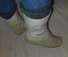W2Vi21 (Lisban2009) Tags: white socks viking wellies rubberboots gummistiefel sailingboots turneddownwellies foldedwellies