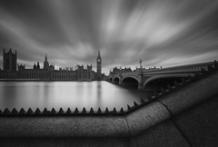 On Time (Jarrad.) Tags: longexposure london blackwhite nikon housesofparliament bigben landmark westminsterbridge houseoflords houseofcommons thepalaceofwestminster nd110 d700 nd106 jaymarksimages