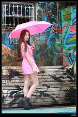 nEO_IMG_DP1U0050 (c0466art) Tags: light red portrait beauty face rain ava wall female canon painting nose eyes funny asia pretty day outdoor quality picture cloth 1dx colorfulo c0466art