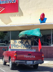PISSED OFF (akahawkeyefan) Tags: sign boat protest bank anger fresno bankofamerica toyota towerdistrict davemeyer