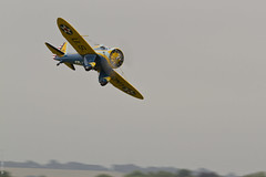 Boeing P-26 'Peashooter' (Sbastien Locatelli) Tags: england plane canon eos us is force aircraft aviation air 7d duxford l boeing usm f4 warbird avion 2014 flyinglegends peashooter p26 ef300mm sbastienlocatelli airqhow