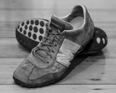 OMG Shoes! (Eduardo_il_Magnifico) Tags: blackandwhite feet monochrome clothing shoes merrell 50mmf18 nikond7000 twittertuesday