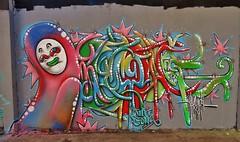 Graffitis, Toulouse Aucamville (thierry llansades) Tags: toulouse graf graffs graff aucamville spray aerosol painting bombing fresque fresques mur wall graffiti graffitis grafs graphisme frechgraff frenchgraff 31 midi pyrenées pyrénées garonne haute hautegaronne