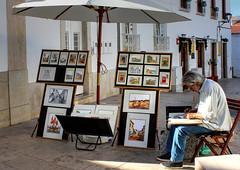 Artist at Work * (clivea2z) Tags: portugal algarve lule artist paintings drawings streetartist picturesforsale
