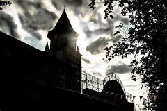 Fronton d'Ainhoa (timmydisme) Tags: paysbaque ainhoa church fronton eglise eliza bw clouds
