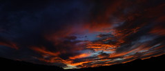 Sunset 10 6 16 #42 Panorama e (Az Skies Photography) Tags: october 6 2016 october62016 10616 1062016 sky skyline skyscape rio rico arizona az rioricoaz riorico arizonasky arizonaskyline arizonaskyscape cloud clouds red orange yellow gold golden salmon black canon eos rebel t2i canoneosrebelt2i eosrebelt2i sun set sunset dusk twilight nightfall arizonasunset panorama