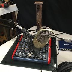 hardware installed & working (KG5JTI) Tags: startup behringer creative labs sound blaster sx10ue spyn studio condenser microphone c1 boom arm audacity