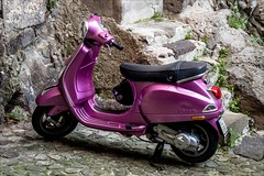 PA024308 Sicily Italy Lipari (Dave Curtis) Tags: 2013 em5 europe omd olympus sicily italy lipari purple moter scooter lilac metalic