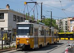 Budapest (BKV) Tatra T5C5K-type tram No. 4340 at Széll Kalman tér interchange on 30 April 2016 (Trains and trams eveywhere) Tags: tatra tatrat5c5k tatrat5c5 budapest hungarian tram budapestiközútivaspálya localtransport tramway buda széllkalman