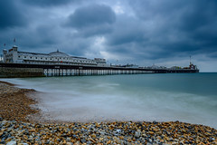 Cloudy Brighton (L0nglost) Tags: cloudy brighton overcast beach pebbles english channel seaside photo walk nikon d800 graduated filter soft 1835mm outdoor sea waterfront ilobsterit water serene shore seascape coast sky pier architecture
