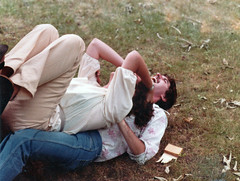 My girlfriend and I fall backward off a beach chair on top of each other onto the lawn at a large birthday party at a friend's house. This is the girl I eventually married in 1985. Milford Connecticut. August 1979 (wavz13) Tags: oldphotographs oldphotos 1970sphotographs 1970sphotos oldphotography 1970sphotography vintagesnapshots oldsnapshots vintagephotographs vintagephotos vintagephotography filmphotos filmphotography vintagemilford oldmilford 1970smilford vintagewoodmont oldwoodmont 1970swoodmont connecticutphotographs connecticutphotos oldconnecticutphotography oldconnecticutphotos oldconnecticut vintageconnecticut connecticutphotography vintagenewengland oldnewengland 1970snewengland vintagenewenglandphotography oldnewenglandphotography vintagenewenglandphotos oldnewenglandphotos oldfamilyphotos vintagefamilyphotos oldfamilyphotography vintagefamilyphotography vintage35mm old35mm vintagekodacolor vintageteens vintageteenagers teenmemories teenagememories vintageteengirls vintageteenagegirls vintageteenboys vintageteenageboys vintageclothes oldclothes vintageclothing oldclothing vintagegirlfriends vintageboyfriends oldboyfriends oldgirlfriends