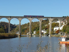 150265 Calstock Viaduct (3) (Marky7890) Tags: gwr 150265 class150 sprinter 2p84 calstockviaduct railway station train cornwall calstock tamarvalleyline