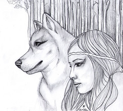 WolfGirl (nonesense69) Tags: sketch sketchbook wild nature girl characet character wolf forest woods background pencil pencilsketch drawing draw art artist none portrait