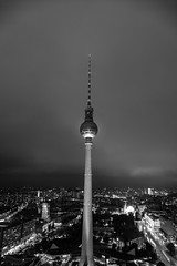 TV Tower at Alexanderplatz (DonPepper Photography) Tags: landscape light outdoor autumn sky clouds blackandwhite cloud 2016 city monochrome bw travel architecture outdoors blackwhite color october black dusk flickr cloudy germany fog street licht cityscape photography explore trees reflection evening night closeup streetphotography outside building breathtaking beruhigend exposure fz1000 harmony lumix leica wonderful panasonic panasonicfz1000 herbst rainy nightphotography landschaft deutschland berlin fernsehturm alexanderplatz tower