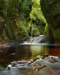 'Green Goblin' - Finnich Glen - Devils Pulpit (Gavin Hardcastle - Fototripper) Tags: finnich glen glasgow paisley scotland canyon waterfall october autumn fall river sandstone green red creek