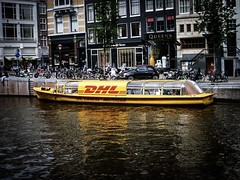DHL Express (#fuerstlife) Tags: amsterdam 2013 dhl express boot grachten iamsterdam fuerstlife