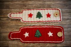 XmasCozyMug_01w (Morgana209) Tags: natale natale2016 christmas cozymug tazze uncinetto crochet feltro handmade fattoamano creativit rosso bianco lana stelle albero tree merenda colazione biscotti