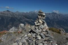 cairn (bulbocode909) Tags: valais suisse saxonpierreavoi cairns montagnes nature paysages nuages bleu