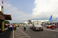 Tarmac view (A. Wee) Tags: garudaindonesia  indonesia  yogyakarta jog airport  boeing 737 737800