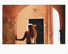 Looking for the sun | Instax (Piotr Skibiski) Tags: instax wide 300 fuji fujifilm instaxpolska instant photography lavagna italy italia sun sunlight summer summertime holidays alley girl tunnel light streak hair snapitseeit filmisnotdead fujifilmpolska fotografia natychmiastowa dziewczyna soneczne promienie soce tunel alejki uliczki wakacje lato