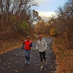 Linda and Laury Fisher running city Creek Oct 2016