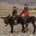 Meninos wakhi em seus burros
