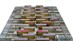 Medico building, Havana, Cuba, 2015 (Winfried Scheuer) Tags: patina repair mies corbusier modernist hochhaus bauhaus concrete pattern securo vedado fading dystopian movie getto